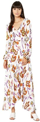 Paul Smith PS Floral Long Dress (White) Women's Clothing