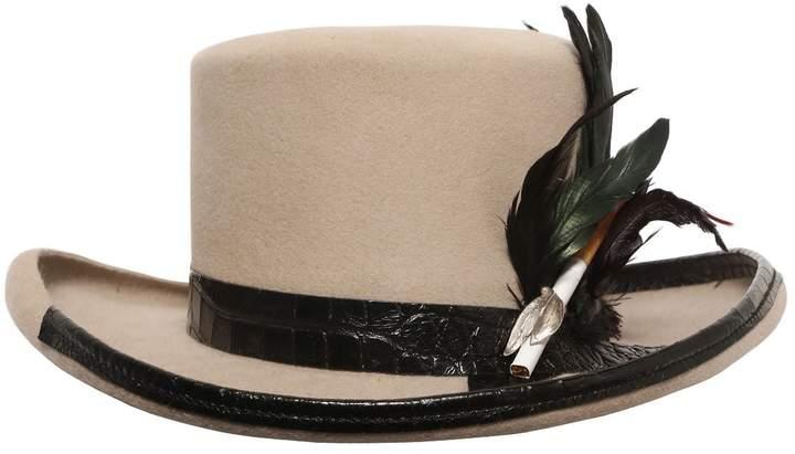Möve Fur Felt Hat W/ Cigarette Holder