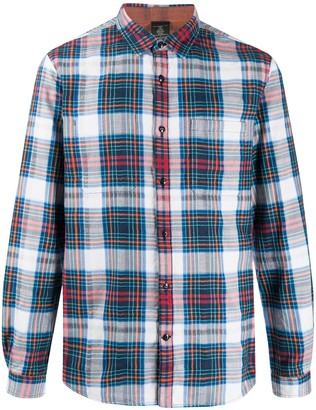John Varvatos Long Sleeved Plaid Shirt