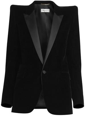 Saint Laurent Velvet Tuxedo Blazer