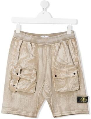 Stone Island Junior Cargo Pocket Shorts