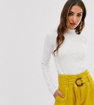 Stradivarius micro-perforated sweater in cream