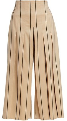 Akris Stripe Crop Wide-Leg Trousers