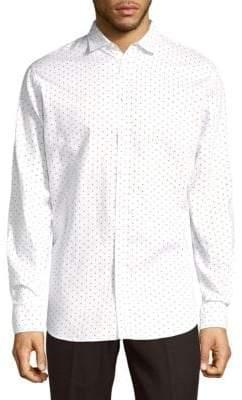 DSQUARED2 Mini Diamond Cotton Button-Down Shirt