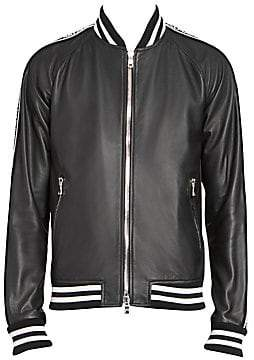 Balmain Men's Leather Bomber Jacket
