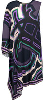 Emilio Pucci One-Shoulder Asymmetric Printed Stretch-Jersey Dress