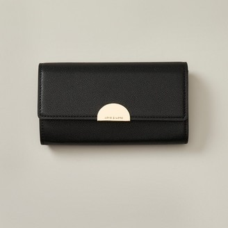 Love & Lore Love And Lore Spencer Clutch Wallet Black Crocodile