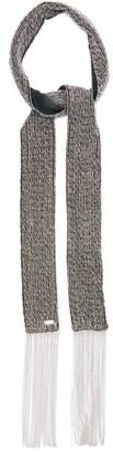 Saint Laurent Crystal-embellished Fringed Silk Scarf - Silver