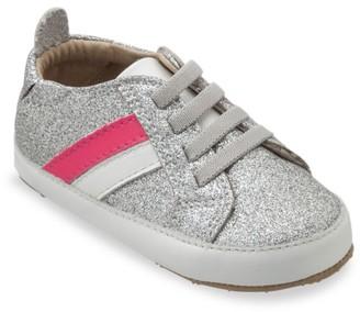 Old Soles Baby's & Little Girl's Pre & First Walker Iggy Glitter Stripe Leather Low-Top Sneakers