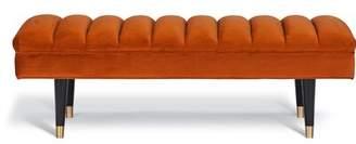 Everly Segars Upholstered Bench Quinn Color: Orange
