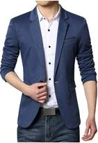 Partiss Men's Slim Fit One Button Business Blazers