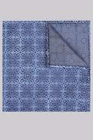 Moss Bros Blue Geo Silk Pocket Square