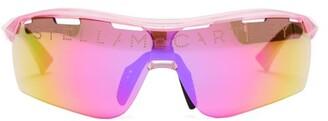 Stella McCartney Turbo Bio-acetate Mirrored Sunglasses - Womens - Pink