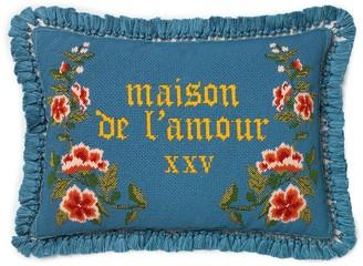 Gucci Floral Cross-Stitch Cushion