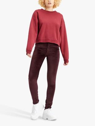 Levi's 721 High Rise Skinny Velvet Jeans, Malbec