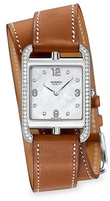 Hermes Cape Cod 29MM Stainless Steel & Leather Strap Watch