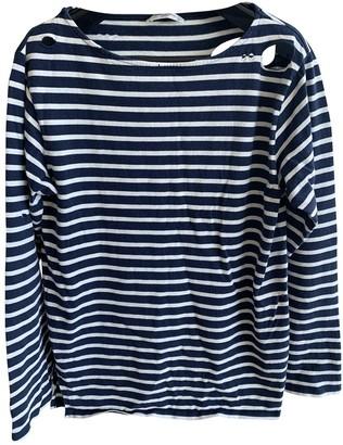 Saint Laurent Navy Cotton T-shirts