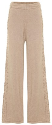 STAUD Mitchel high-rise flared knit pants