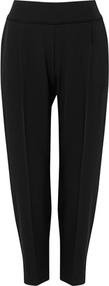 Wallis PETITE Black Relaxed Pull On Trouser