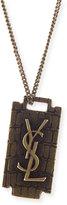 Saint Laurent Men's Monogram Razor Blade Necklace