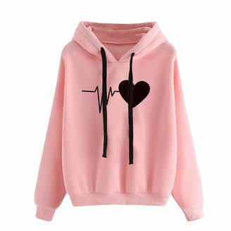 757 Ladies Hoodie Tops Autumn Winter Comfortable Sweatshirt Jumpers Women Novelty Graphic Long Sleeve T-Shirts Holiday Casual Pullover Blouse for Teen Girls