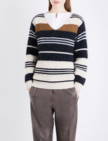Brunello Cucinelli Striped wool