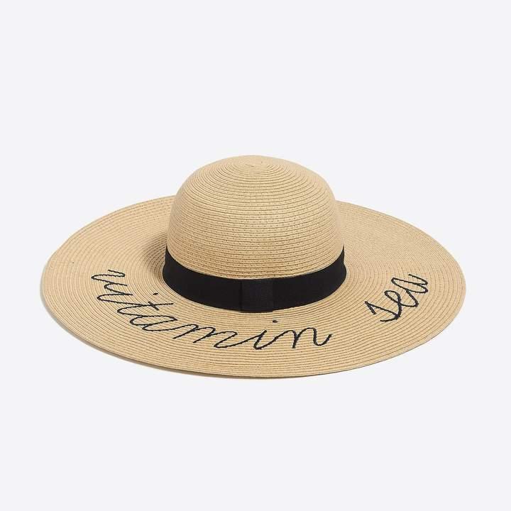 J.Crew Factory Vitamin sea straw hat