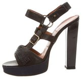 Lanvin Buckle-Accented Platform Sandals