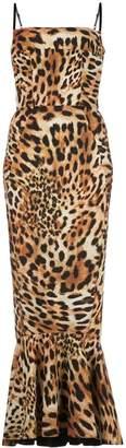 Greta Constantine leopard print midi dress