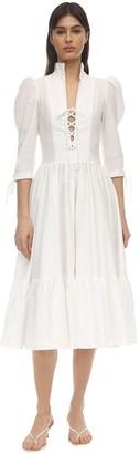 Maryam Nassir Zadeh Milagra Cotton Poplin Midi Dress