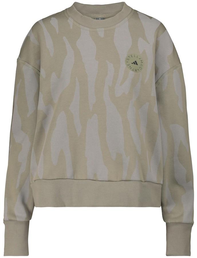 adidas by Stella McCartney Printed cotton-blend sweatshirt