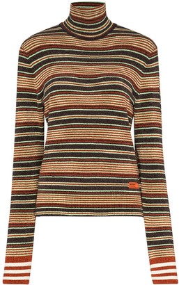 adidas x Wales Bronner striped turtleneck jumper