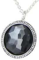 Ippolita 925 Sterling Silver Diamond Quartz & Hematite Necklace
