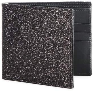 Maison Margiela Glitter Calf Leather Bi-Fold Wallet