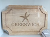The Well Appointed House Personalized Artisan 18''x12'' Scalloped 'Greenwich' Cutting Board with No Handles - IN STOCK IN OUR GREENWICH, CT STORE FOR QUICK SHIPPING