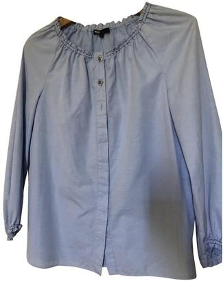 Maje Blue Cotton Top for Women