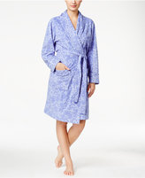 Charter Club Printed Short Robe, Only at Macy's