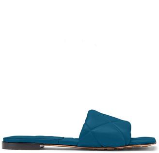 Bottega Veneta Quilted Puffy Flat Slide Sandals