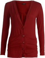 Forever Womens Stylish Plain Long Sleeves Button Pockets Cardigan