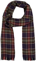 Barneys New York MEN'S PLAID BASKET-WEAVE CASHMERE SCARF