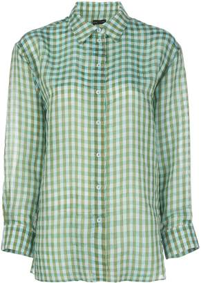 Callipygian gingham over shirt