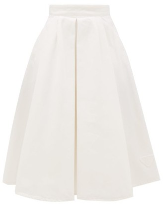 Prada Pleated Denim Skirt - White