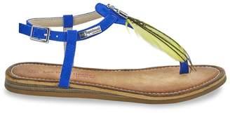 Les Tropéziennes Gaelle Leather Toe Post Sandals