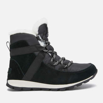 Sorel Women's Whitney Flurry Waterproof Suede/Leather Hiking Style Boots - Black