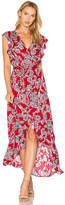 Splendid Etched Floral Wrap Dress in Red. - size XS (also in )