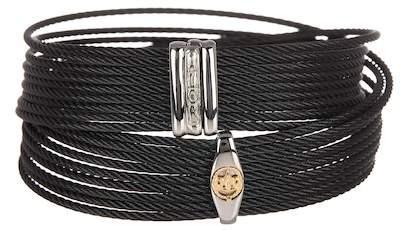 Alor Twisted Accent Logo Detail Wrap Bracelet