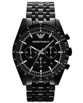 Emporio Armani Large Chronograph Watch, Black