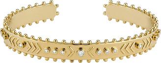 Marlo Laz Arrow Raw Yellow Gold Cuff Bracelet