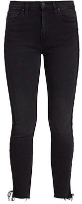 Hudson Barbara High-Rise Lace Up Skinny Jeans