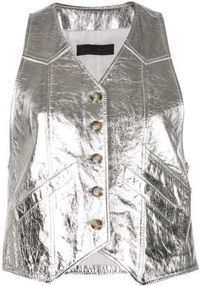 Proenza Schouler Metallic Leather Vest